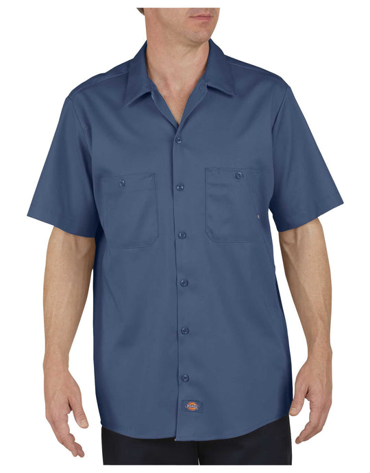 Dickies Mens Industrial Cotton Short Sleeve Work Shirt