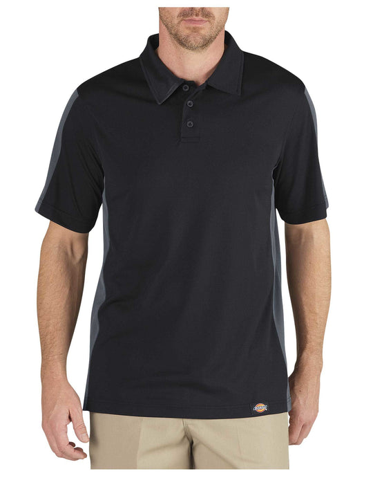 Dickies Mens Industrial Color Block Performance Polo Shirt