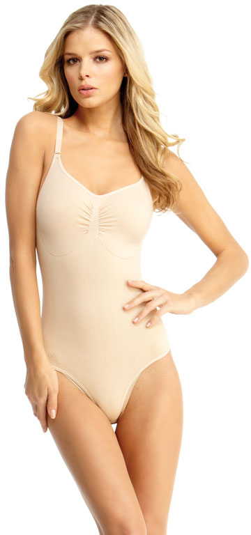 923a2b6622b MSM-120 - SlimMe By MeMoi womens Basic Control Bodysuit with Thong ...