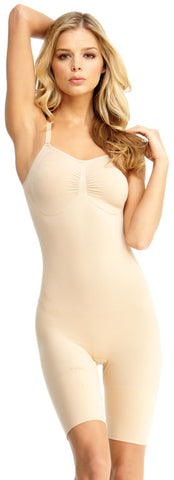 SlimMe By MeMoi womens Basic Control Full Bodysuit with Thigh Shaper