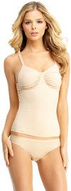 SlimMe By MeMoi womens Basic Control Shaping Cami with Adjustable Straps and Underwire