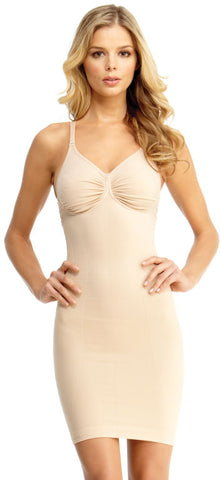 SlimMe By MeMoi womens Basic Control Shaping Slip with Adjustable Straps and Underwire