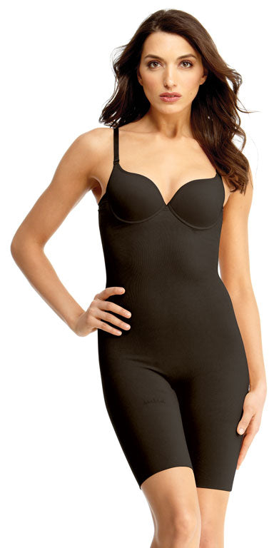 SlimMe By MeMoi Underwire and Padded Full Bodysuit with Thigh Shaper