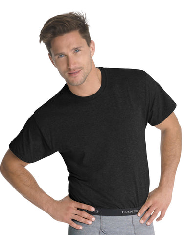 Hanes Classics Men's Traditional Fit ComfortSoft Dyed Crewneck TAGLESS Undershirt 3-Pack 7873B3