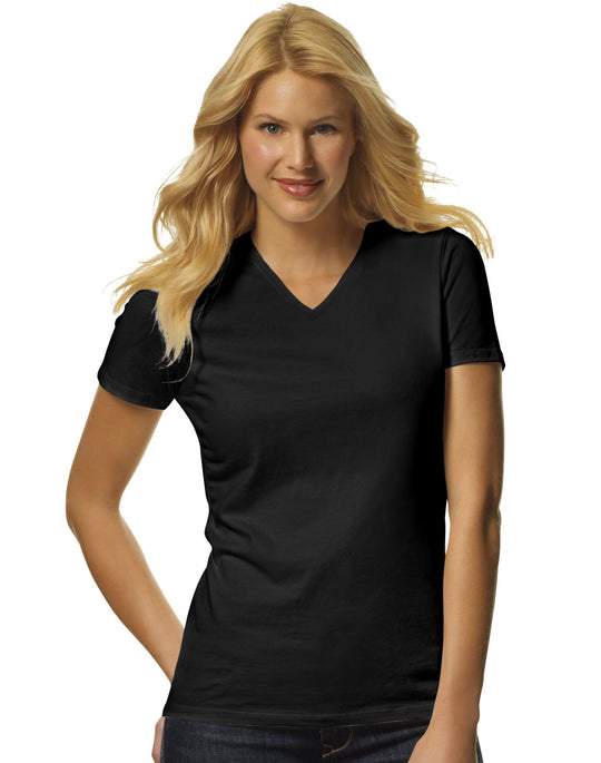 Hanes Women's TAGLESS Jersey V-Neck Tees Assorted 2-Pack
