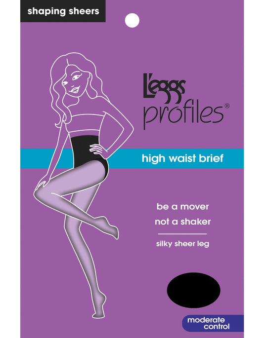 L'eggs Profiles Firm Control Waist Smoother Tummy Toning Brief Silky Sheer