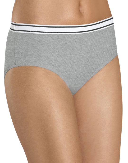 Hanes Women's Cotton Hipster Assorted 6-Pack