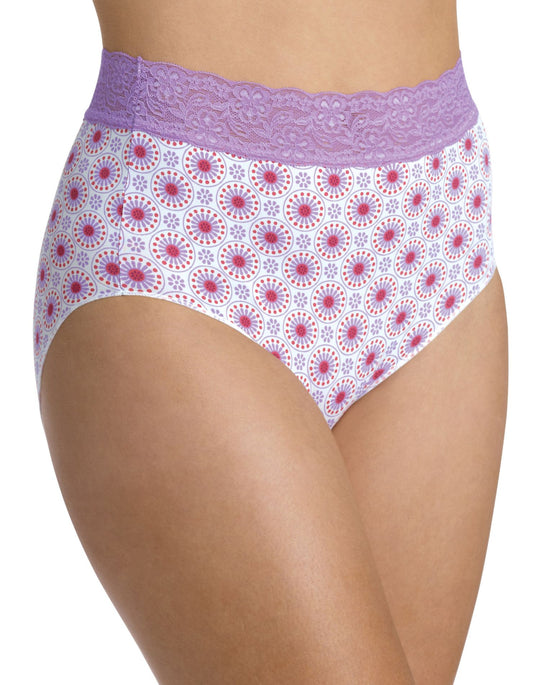 Bali No Lines, No Slip Brief with Lace Waistband