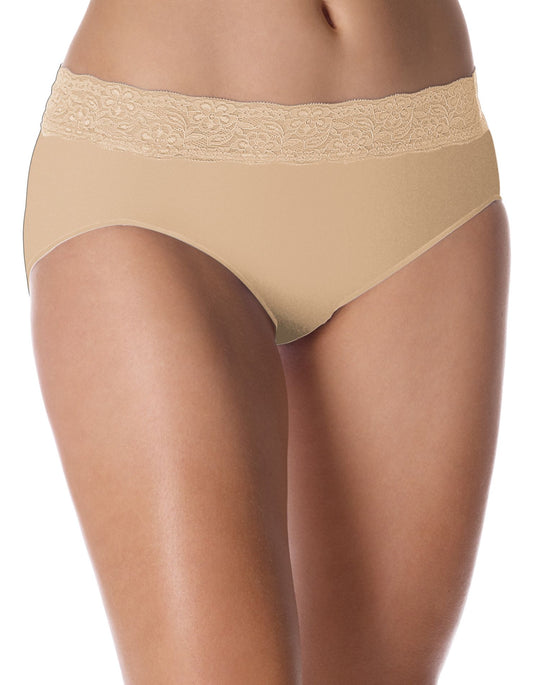 Bali No Lines, No Slip Hipster with Lace Waistband