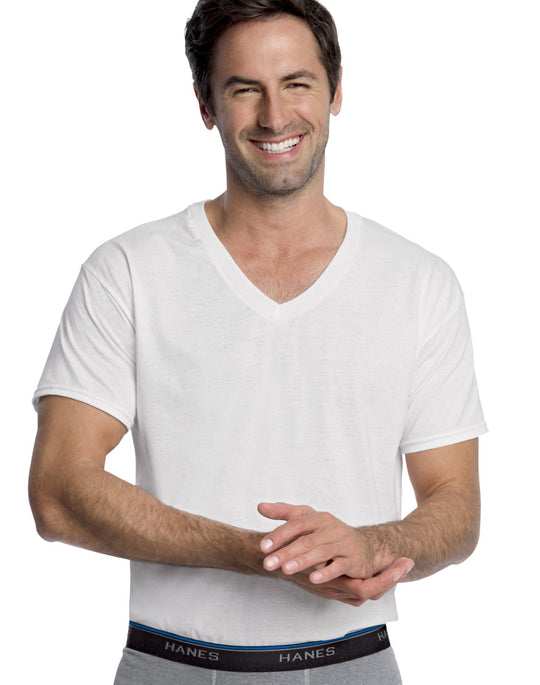 Hanes Men's ComfortBlend V-Neck Undershirt 3-Pack