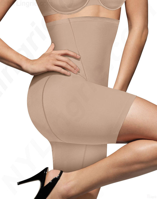 Bali Women's One Smooth U High Waist Thigh Shaper with Cool Comfort Design