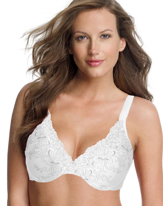 Playtex Secrets Side Smoothing Embroidered Undewire Bra
