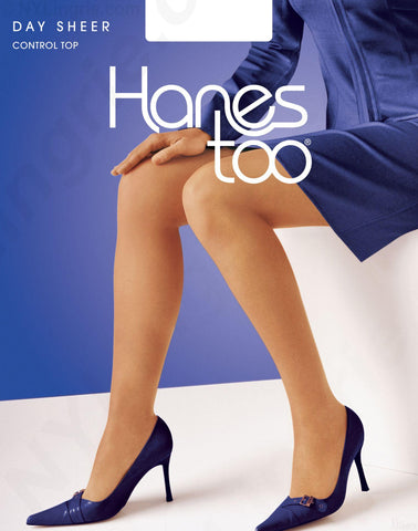 Hanes Too Day Sheer Control Top SandleFoot 1 Pair Pack