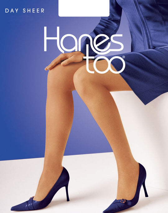 Hanes Too Day Sheer SandleFoot Non-Control Top Style 1 Pair Pack