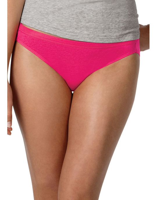 Hanes Women's Cotton Bikini Panties with ComfortSoft® Waistband 3 Pack