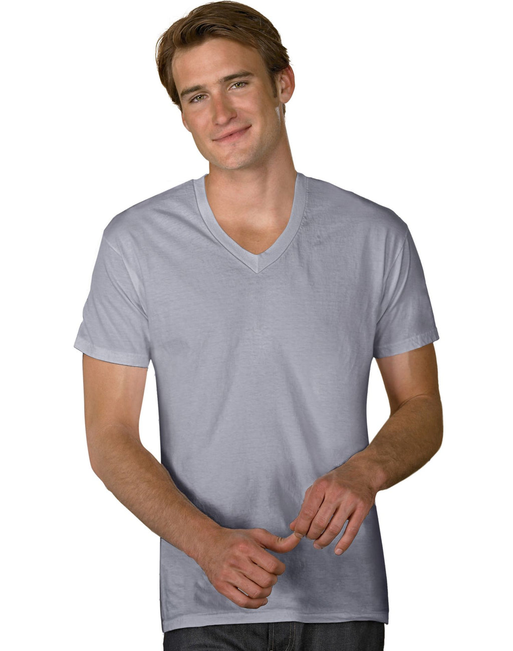 Hanes 4.2 oz NANO-T Originals V-Neck T-Shirt