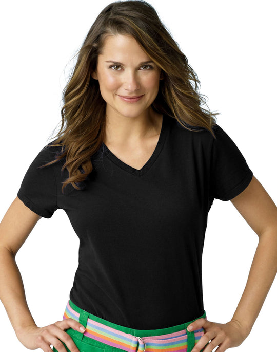 Hanes 4.5 oz Women's NANO-T V-Neck T-Shirt