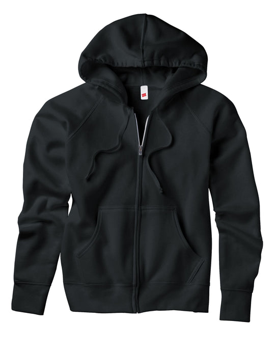 Hanes Women's Fleece Full-Zip Hood - 8 oz
