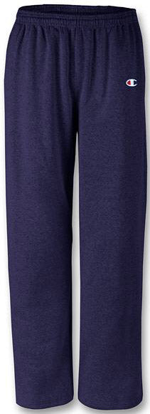 Champion Reverse Weave Open Bottom Sweatpants with Pockets