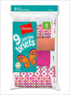 Hanes Girls' No Ride Up Cotton Low Rise Briefs 9 Pack