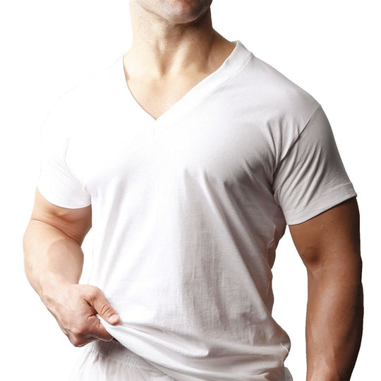 Players Tall Mans 100% Cotton V-Neck 2-Pack