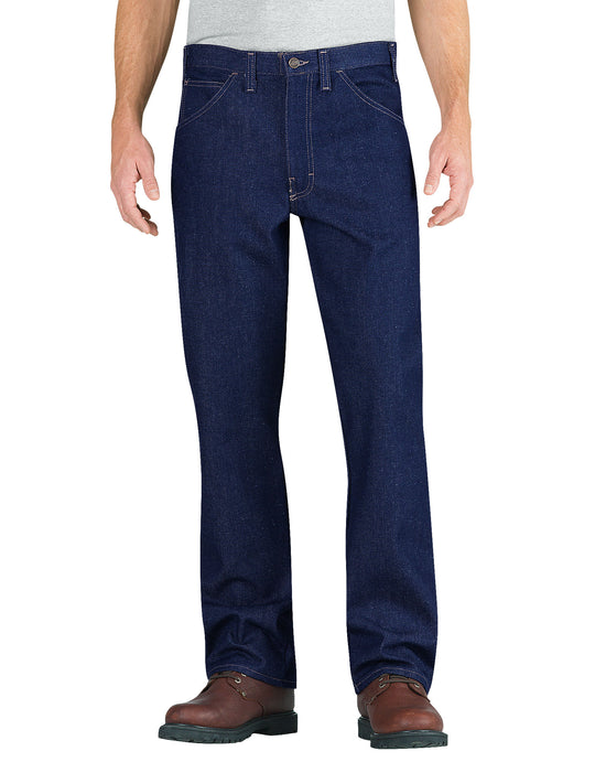 Dickies Mens Flame-Resistant Relaxed Fit Straight Leg 5-Pocket Jeans