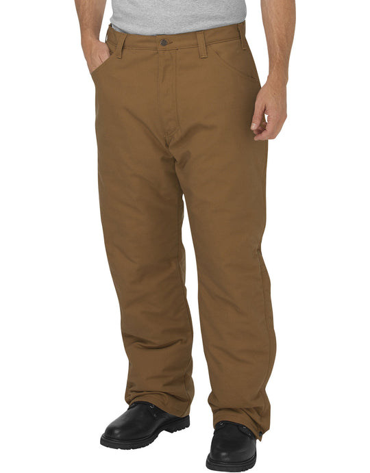 Dickies Mens Flame-Resistant Relaxed Fit Straight Leg Insulated Duck Pants