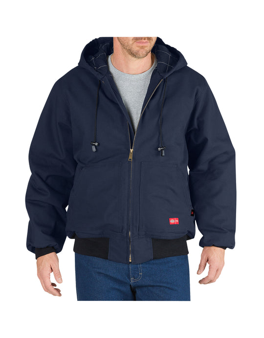 Dickies Mens Flame-Resistant Insulated Duck Jacket with Hood