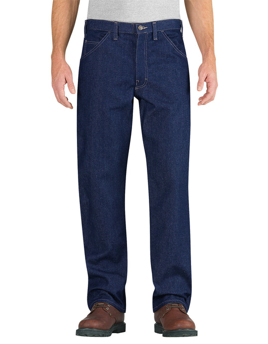 Dickies Mens Flame-Resistant Relaxed Fit Straight Leg Carpenter Jeans