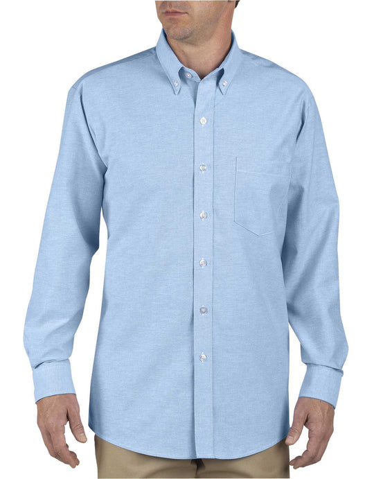 Dickies Mens Button-Down Long Sleeve Oxford Shirt