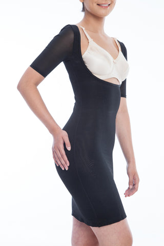 Gemsli Womens Firm Control Frontless Body Shaper with Sleeves