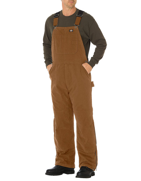 Dickies Mens Sanded Duck Insulated Bib Overalls