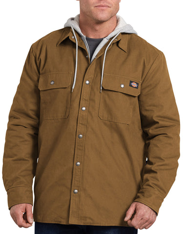 Dickies Mens Relaxed Fit Icon Hooded Duck Quilted Shirt Jacket