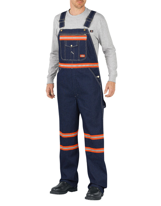 Dickies Mens Enhanced Visibility Denim Bib Overalls