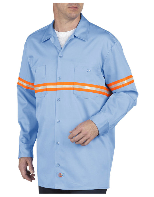Dickies Mens Enhanced Visibility Long Sleeve Twill Work Shirt
