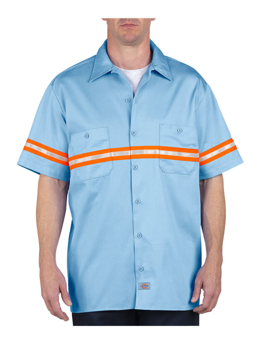 Dickies Mens Enhanced Visibility Short Sleeve Twill Work Shirt