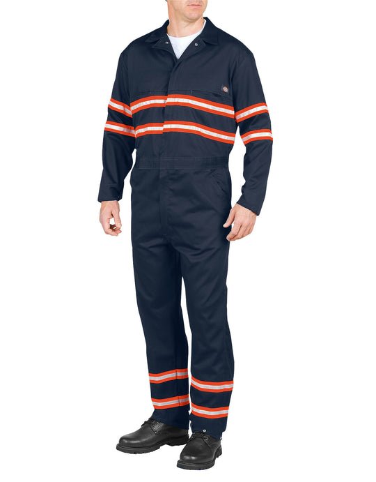Dickies Mens Enhanced Visibility Long Sleeve Coveralls