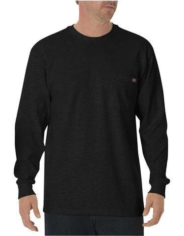 Dickies Mens Long-Sleeve Heavyweight Crew-Neck T-Shirt