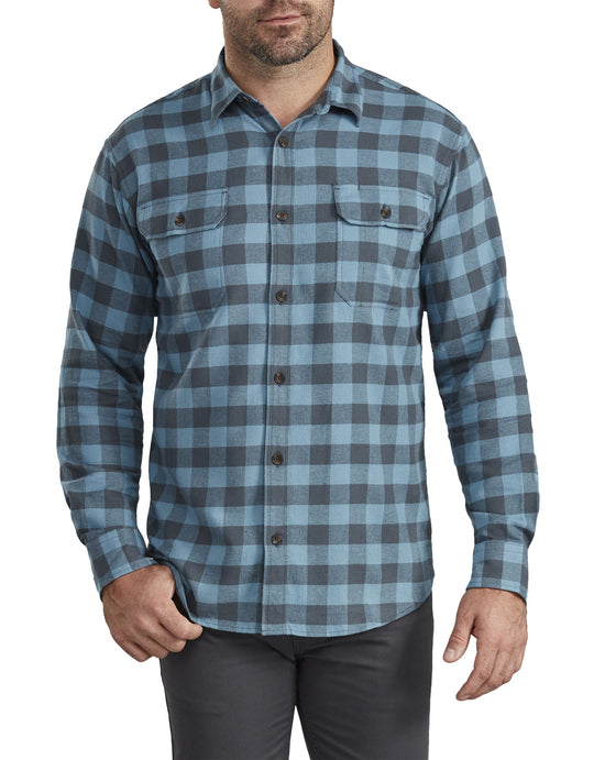 Dickies Mens Relaxed Fit Icon Long Sleeve Flannel Shirt