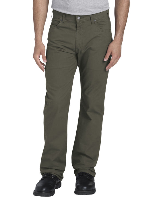 Dickies Mens FLEX Regular Fit Straight Leg Tough Max Ripstop 5-Pocket Pants