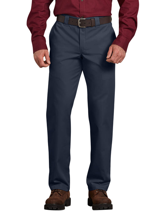 Dickies Mens Slim Fit Straight Leg Poplin Work Pants