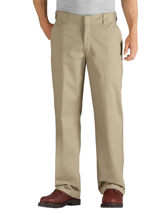 Dickies Mens FLEX Relaxed Fit Straight Leg Twill Comfort Waist Pants