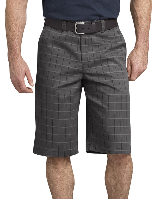 "Dickies Mens Icon Flex Plaid 13"" Shorts"