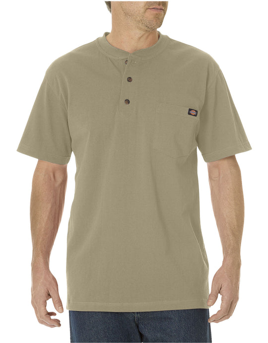 Dickies Mens Short Sleeve Heavyweight Henley