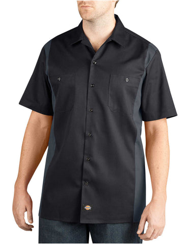 Dickies Mens Two-Tone Short Sleeve Work Shirt