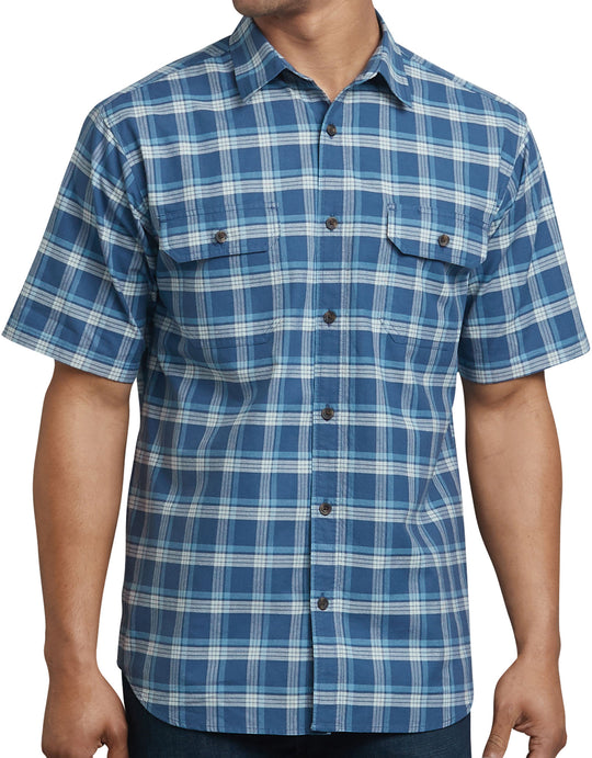Dickies Mens Icon Relaxed Fit Yarn Dyed Shirt