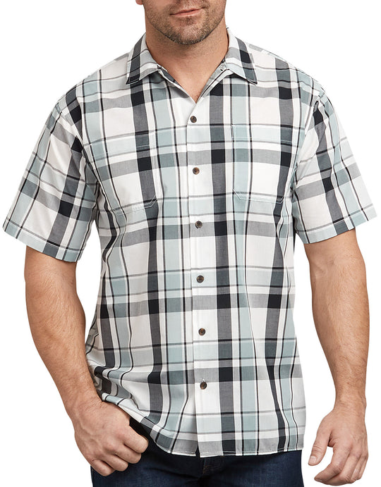 Dickies Mens Icon Relaxed Fit Yarn Dyed Camp Shirt