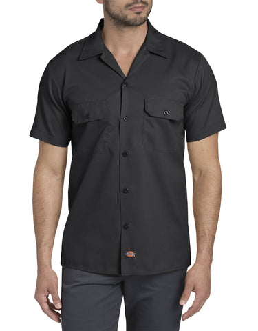 Dickies Mens FLEX Slim Fit Short Sleeve Twill Work Shirt