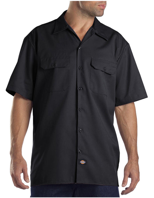 Dickies Mens FLEX Relaxed Fit Short Sleeve Twill Work Shirt