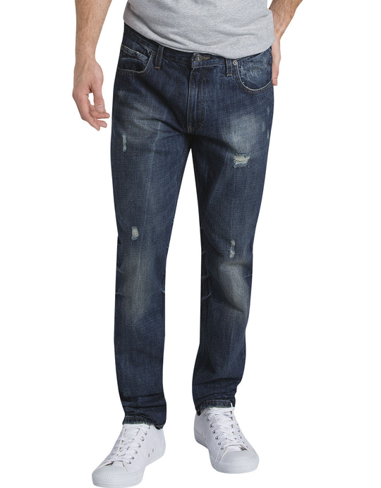 Dickies Mens X-Series Slim Fit Tapered Leg 5-Pocket Denim Jeans